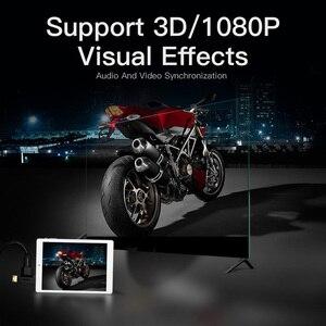 Image 3 - Vention mini hdmi/micro hdmi para hdmi adaptador conversor 2 em 1 3d 1080 p macho para fêmea para tv monitor projetor câmera