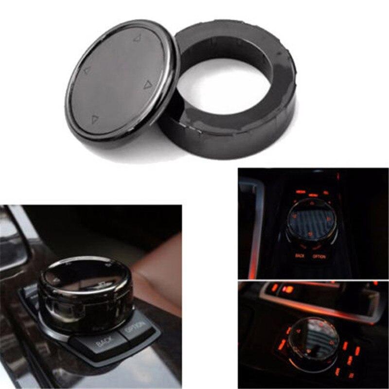 Hot Sale Car Bigger Multimedia Knob Cover Trim Sticker Black Idrive