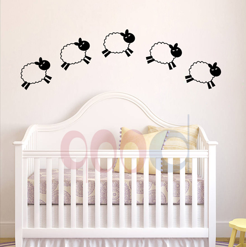 Cartoon Little Sheep Wall Stickers, DIY home decoration removable ...