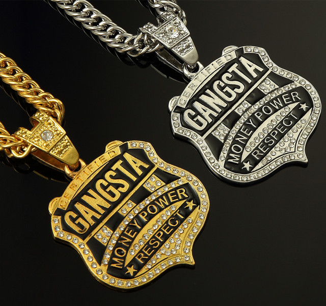 Iced out gansta money power pendant new golden hip hop chain iced out gansta money power pendant new golden hip hop chain necklace mens jewelry mozeypictures Image collections