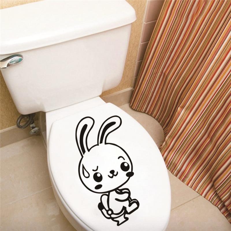Funny Rabbit Bathroom Toilet Decor Home Decoration Creative Toilet