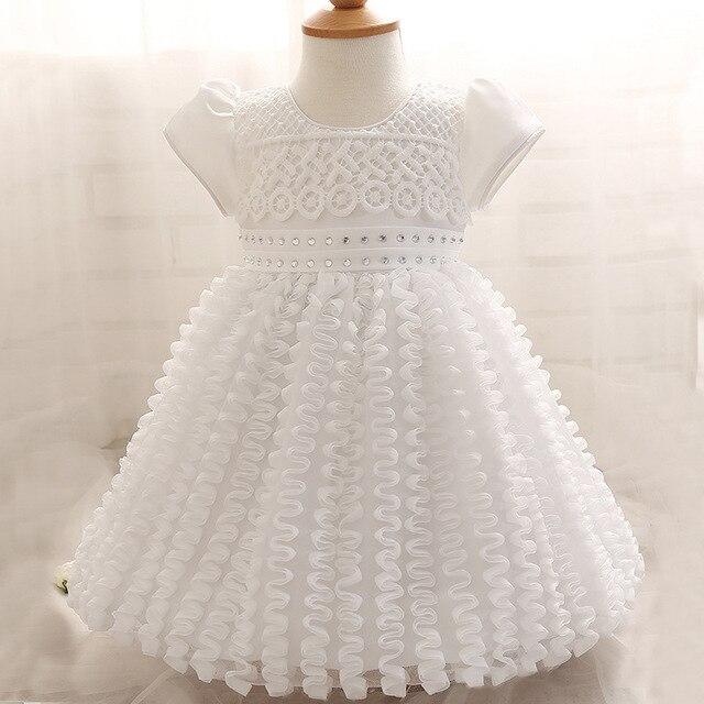 Baby Mädchen Kleid Neugeborenen Weiß Taufkleid 1 Jahre Mädchen Baby ...