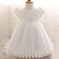 Vestido del Bebé Recién Nacido Traje De Bautizo Blanco 1 Años Niña Vestido de Cumpleaños del bebé Infantil Del Cordón Del Arco Grande Vestido de Partido Bautismo vestido