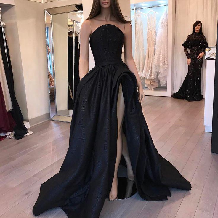 Designer Formal Dresses: Aliexpress.com : Buy New Beautiful Black Long Prom Dress