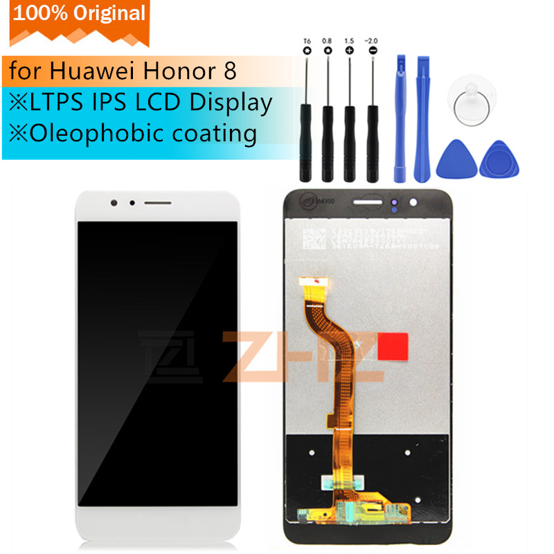 Original Für Huawei <font><b>Honor</b></font> <font><b>8</b></font> <font><b>LCD</b></font> <font><b>Display</b></font> FRD-L09 Touchscreen <font><b>lcd</b></font> Digitizer Montage für Honor8 pantalla Ersatz Reparatur Teile image
