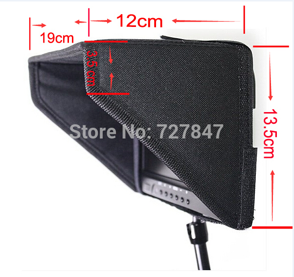 Feelworld 7 Sunshade Sun Hood LCD Hood Shade For 7LCD Video Monitor Camera buy monitor hood