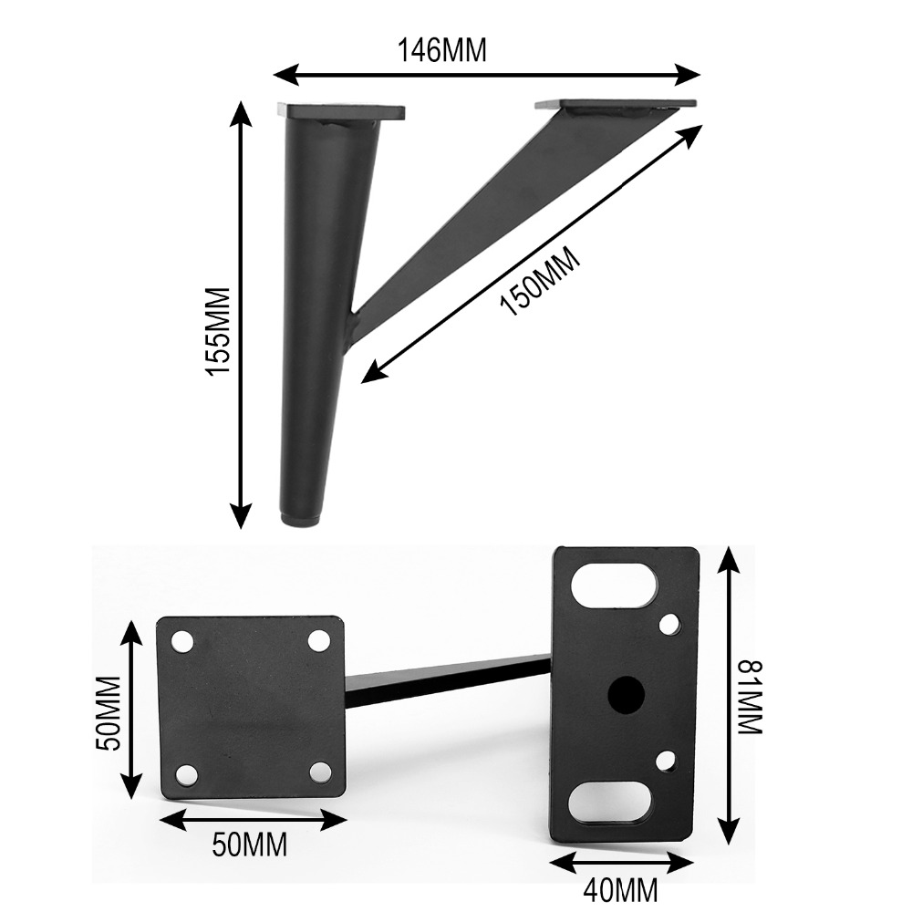 Image 2 - 4Pcs 6inch Furniture Legs Metal Sofa Legs Tree Shaped Table Legs Replacement Legs for Cabinet Vanity Couch Chair Dresser-in Furniture Legs from Furniture