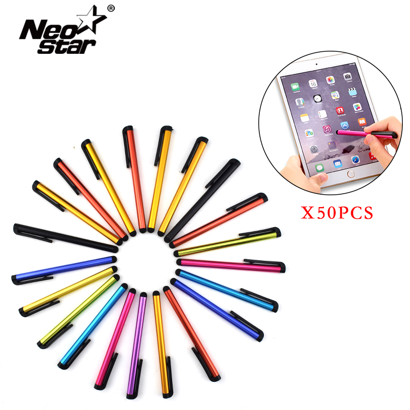 Neo Star 50pcs/lot Stylus Pen For IPad For IPhone Universal Plastic Touch Screen Pen For Tablet PC Smartphone Capacitive Pen