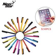 Neo Star 50 шт./лот стилус для IPad для IPhone Универсальная пластиковая ручка с сенсорным экраном для игровой фиксатор емкостная ручка