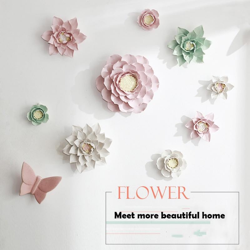 Ceramic Wall Flower Decor: Aliexpress.com : Buy Modern 3D Stereo Wall Ceramic Flower