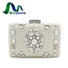 Women Wedding Bag Pearl Beaded Bags Ladies Evening Purse Designer Day Clutches Sister Party Handbags White Clutch Small