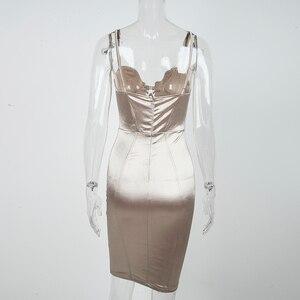 Image 5 - Newasia vestido estilo espartilho de renda, de 2019, sexy, acolchoado, de cetim, feminino, para festa à noite, elegante, para o verão vestido champanhe