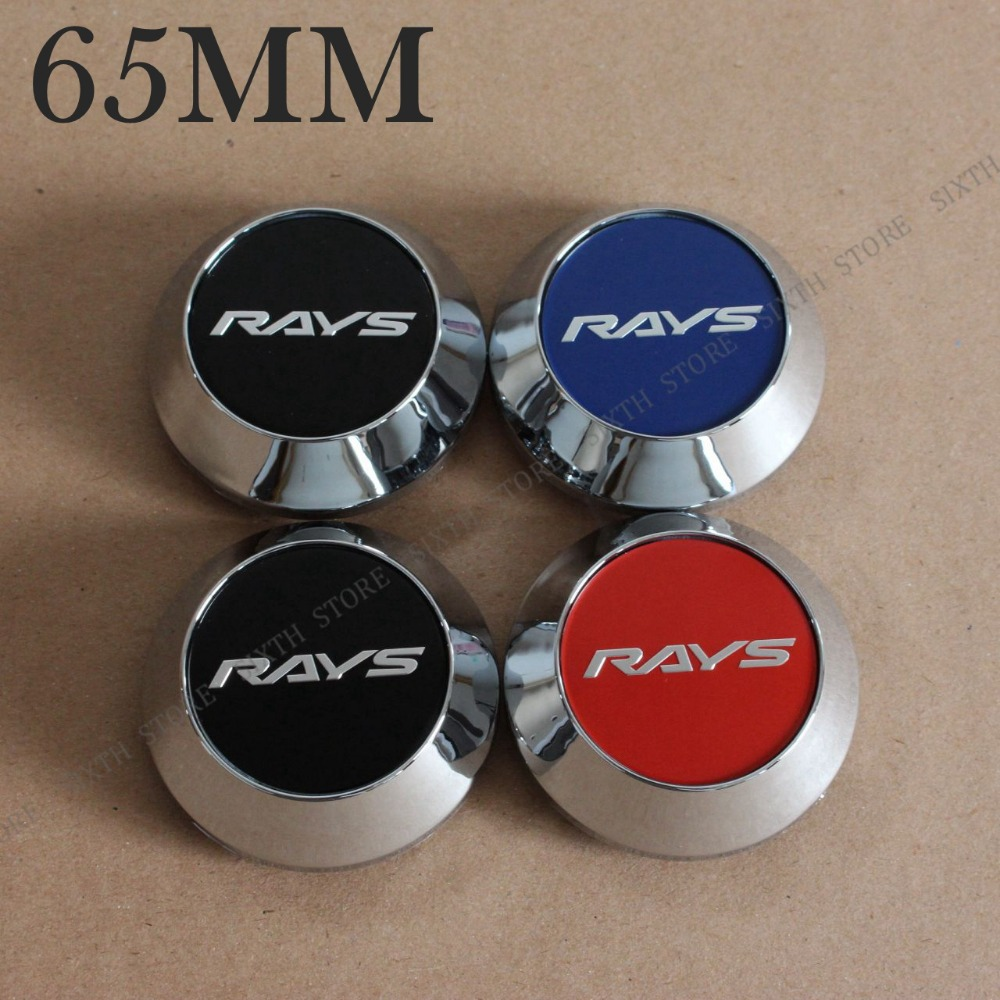 High Quality KOM POWER 65mm Wheel RAYS Logo Sticker RAYS Racing Wheel-Covers Hub Caps Emblem RAYS Wheels Rays Center Caps TE37