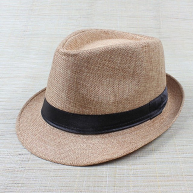 Hot Unisex Hat Women Hat Men Gangster Summer Beach Cap Hard Felt Fedora  Trilby Panama Jazz Gangster Hats 860e51f21330
