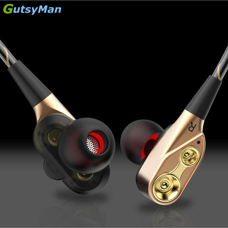 GutsyMan GM21 Pro Dual Dynamic <font><b>Driver</b></font> Professional In Ear Sport HIFI Earphone with <font><b>4</b></font> <font><b>driver</b></font> inside For ipad For mobile phones image