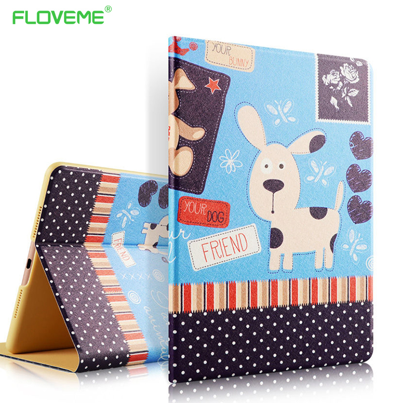 FLOVEME Leather Cases For Xiaomi MiPad 1 2 Ultra Slim Fashion Color Painting Flip Stand Tablet Case Anti-Knock Protector Cover