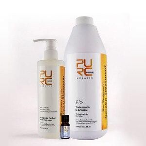 Image 2 - PURC קרטין החלקת טיפול 8% פורמלין ועמוק ניקוי שמפו ליישור שיער לקבל מתנה argan שמן מחיר לציץ