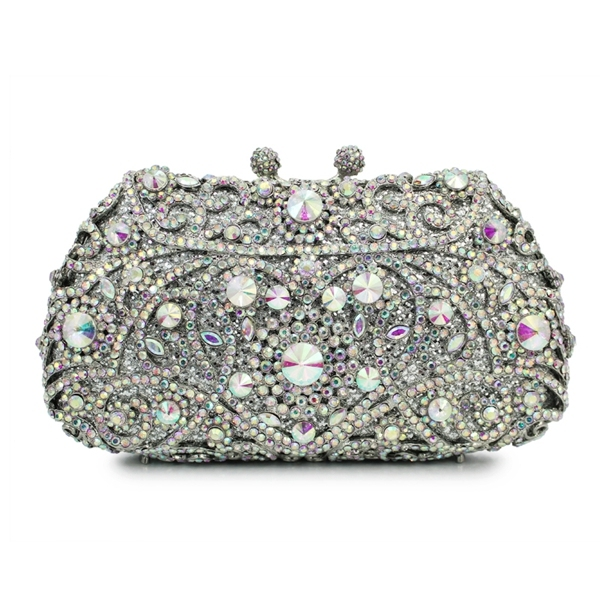 25aef61ea1 AB color crystal stone evening bag hard shell clutch bag ladies handbag  (8651A-AB)