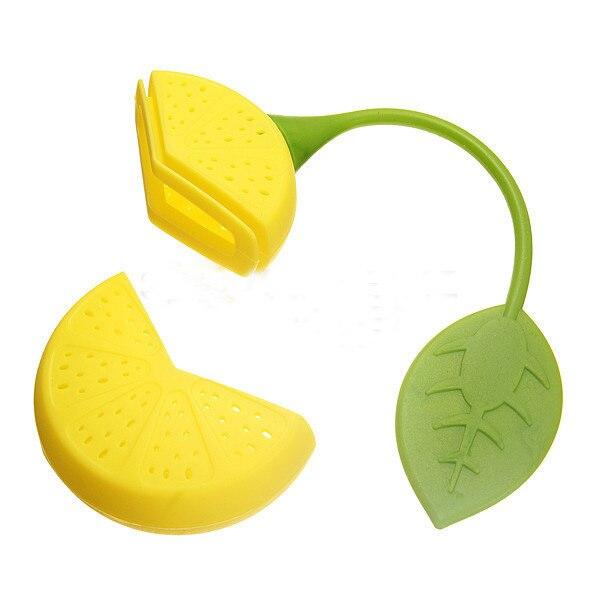 Tea Strainer Silicone 2015 Strawberry Lemon Design Loose Tea Leaf Strainer Herbal Spice Infuser Filter Tools
