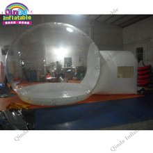 3m diameter transparent bubble tent for lawn,clear inflatable camping tent with 2m entrance