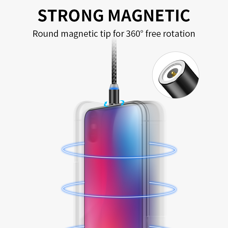 Image 2 - SUNPHG Magnetic Micro USB Charger Cable Type C Charging Wire for iPhone x xr oneplus 6t Samsung s9 Microusb Cord Mobile Phone-in Mobile Phone Cables from Cellphones & Telecommunications