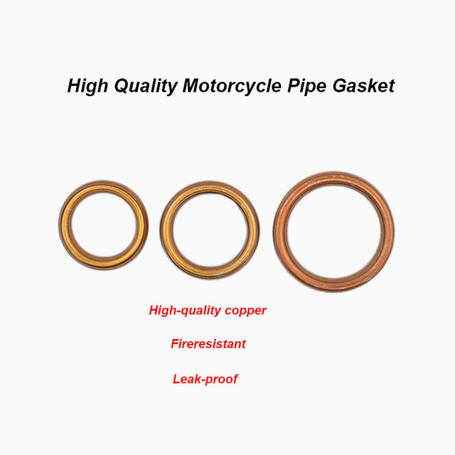 2pcs/lot Motorcycle Silencer Exhaust Pipe Gasket For 50cc 60cc 80cc 100cc 125cc 150cc Motorbike Scooter Underbone Dirt Bike ATV