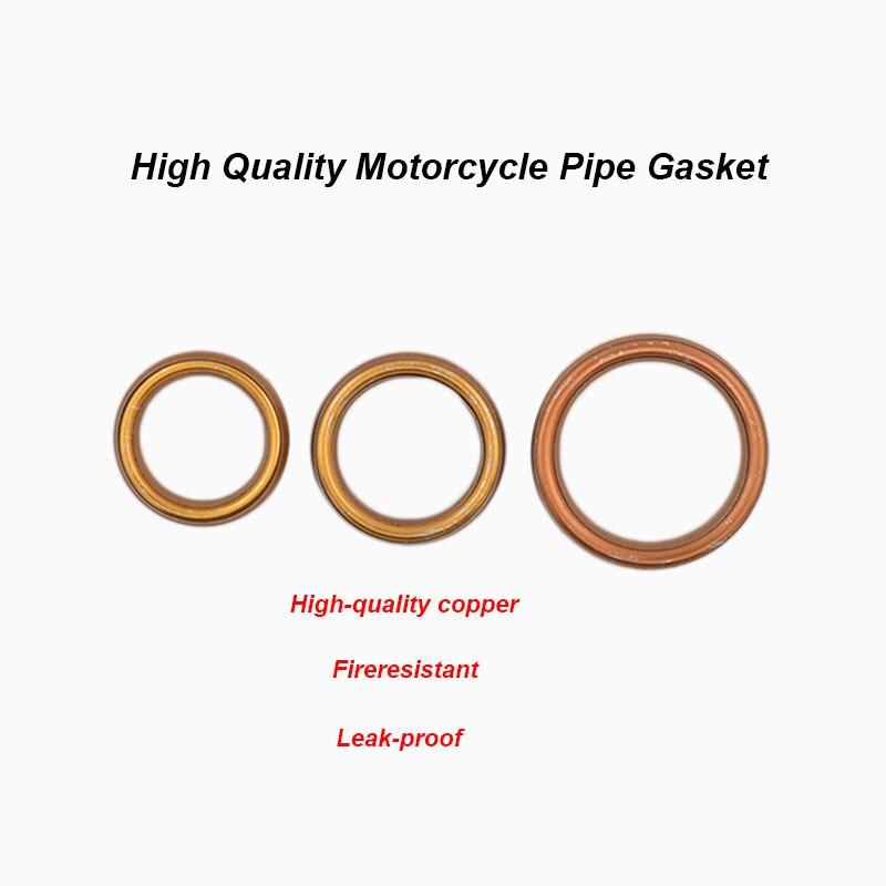 10PCS Exhaust Muffler Pipe Gasket For 50 110 125cc 140cc Pit Dirt Bike ATV Quad