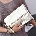 Мода Золотой женщины сложите Сцепления Цепи мешок посыльного сумки для женщин Crossbody Сумки женские Клатчи женские сумка Сумки