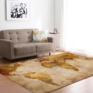 Image 3 - גדול מפת עולם שטיחים שטיח שינה ילדים תינוק לשחק זחילה מחצלת זיכרון קצף אזור שטיחים שטיח לסלון בית דקורטיבי