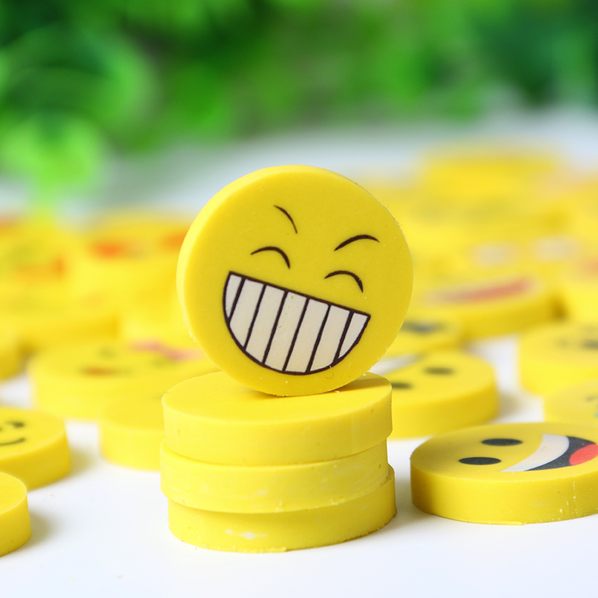 4 PCS Small Size Lovely Funny Smile Face Eraser Kids Gifts