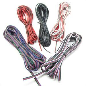 2Pin 3Pin 4Pin 5Pin 1 متر 5 متر 10 متر 18AWG 20AWG 22AWG الكهربائية تمديد سلك كابل للون واحد RGB RGBW LED قطاع ربط