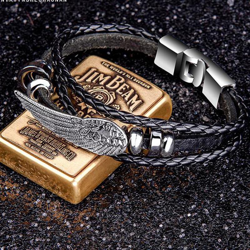 Triple X xXx: Return of Xander Cage Bracelet Angel Wings Feather Xander Cage Leather Bracelet