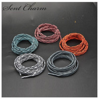 SENTCHARM 95cm/37.5inch Elastic Sport Shoelaces Striped Fashionable Cool Shoestrings For Sneakers High Quality
