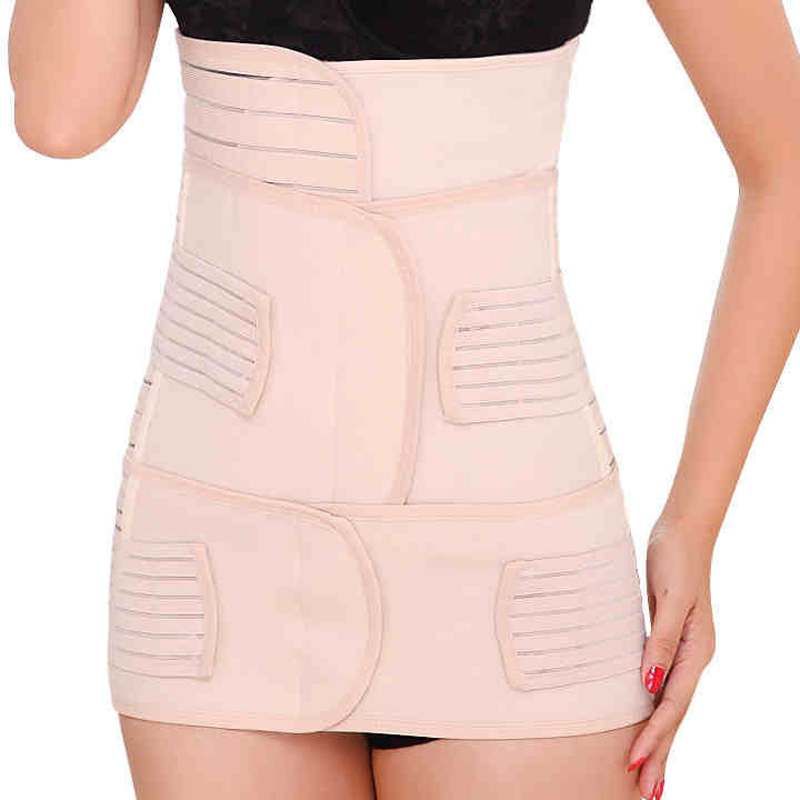 3 In 1 Waist Cinchers Training Corsets Postpartum Recovery Belly/waist/pelvis Belt Slimming Body Support Band