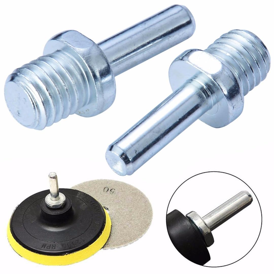 цена на 2pcs Stainless Steel M14 Screw Spindle Drill Adapter Backing Pad Wire Brush For Car Polish Wax Foam Sponge Pad Polisher Buffer