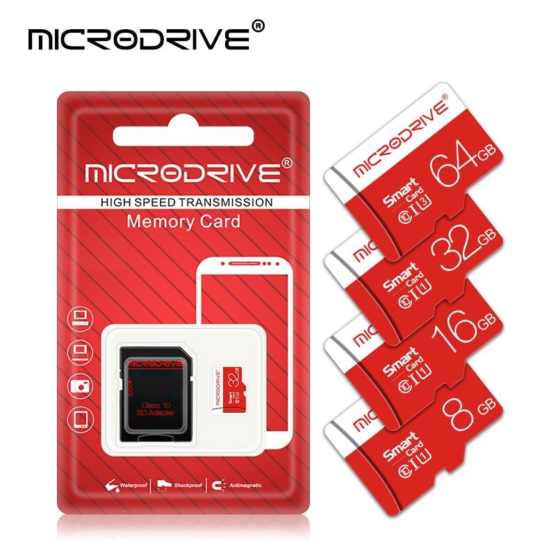 Microdrive High speed Flash Memory Card 8GB 16GB 32GB Micro card 64GB 128GB Class10 SDHC/SDXC tarjeta micro sd Cartao de memoria-in Micro SD Cards from Computer & Office