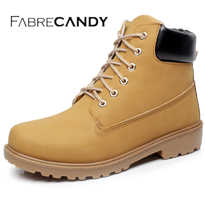 FABRECANDY leather man boot Winter men boots ankle shoes warm snow velvet fur work martin cowboy motorcycle male shoe lace-up tangnest new autumn winter chelsea boots for men casual suede leather ankle boots warn fur inside rubber boot cowboy shoes