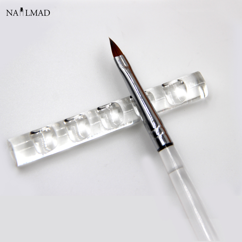 1pc Nail Brush Stand Akryl Crystal Brush Hållare Rack Clear Standhållare Nail Pen Stand Nail Tools Display Stand Rest Tools