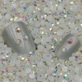 2000 pçs/saco 2mm 3mm Natator Jelly Branco AB Cores Rodada Resina Doce Nail Art Pedrinhas Para Unhas 3D strass