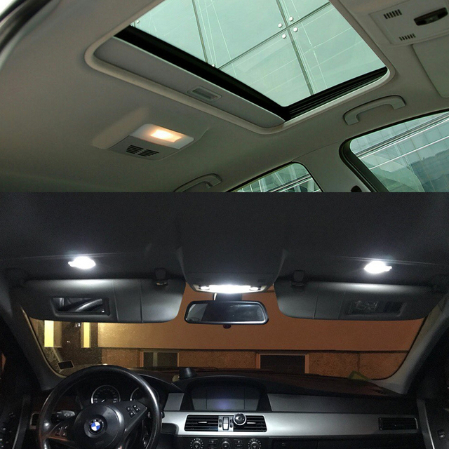 17pcs Led Canbus Interior Lights Kit Package For Bmw 5 Series E60