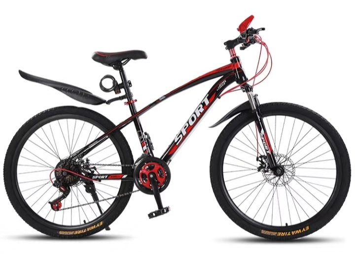 The New Advanced Aluminum Alloy Material 26 Inch 21 Speed Steel 40 Knife Straight Handlebar Cycling Factory Mountain Bike