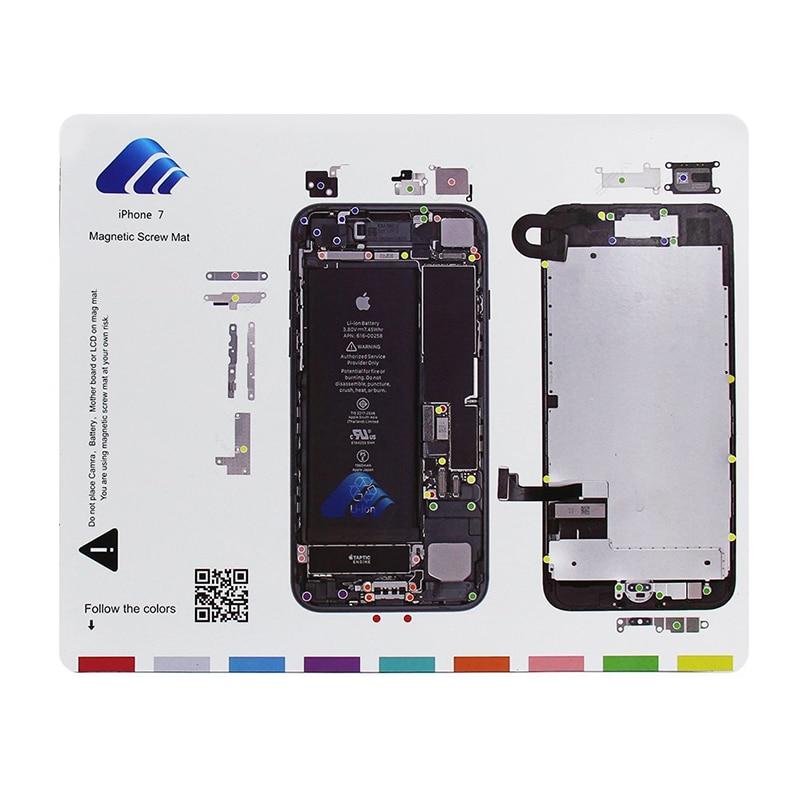 9ks ruční mobilní telefon magnetická rohož 20 * 25cm šroubovák - Sady nástrojů - Fotografie 2
