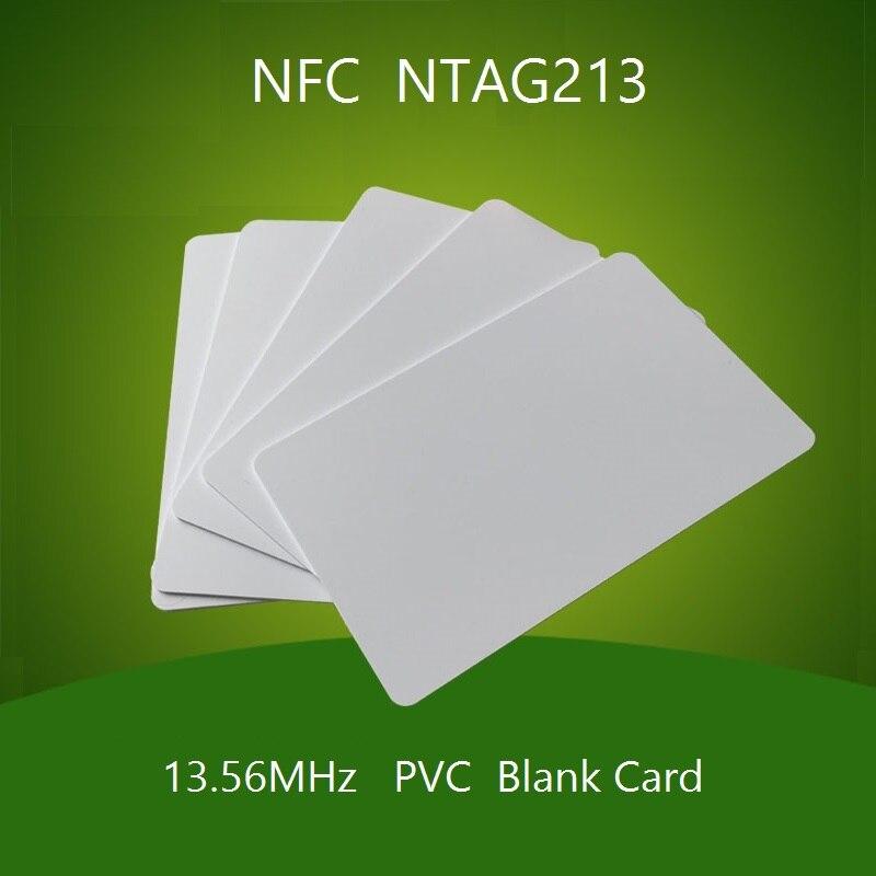 200PCS 13.56MHz NFC 213 Chip Card Blank White RFID NFC Card