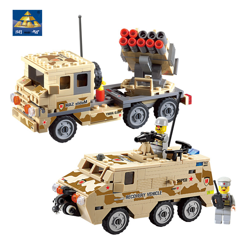 KAZI Building Blocks K84027 183pcs Troops Carriers Army Truck Model Building Kits Model Toy Bricks Toys Hobbies Blocks kazi building blocks k87011 608pcs pirates black pearl model building kits model toy bricks toys hobbies blocks