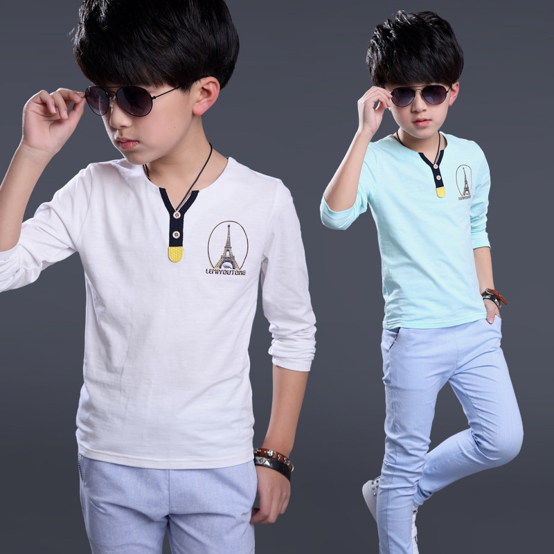 1411b490 The boy long sleeve shirt kids 2016 new style children male Big Boy T Shirt  bottoming shirt-in T-Shirts from Mother & Kids on Aliexpress.com | Alibaba  Group