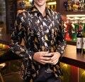 Мужской костюм мужская куртка новая зима пром пиджак печати партия моды джаз куртка певица танцор звезды шоу Рождество Рождество