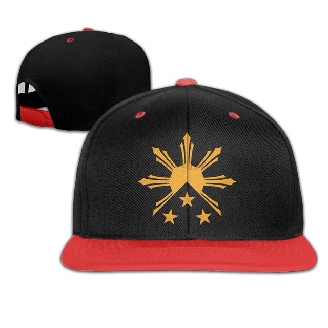 ff7e16259fe Unisex Tribal Philippines Filipino Sun and Stars Flag Baseball Hat Cotton  Trucker Hat