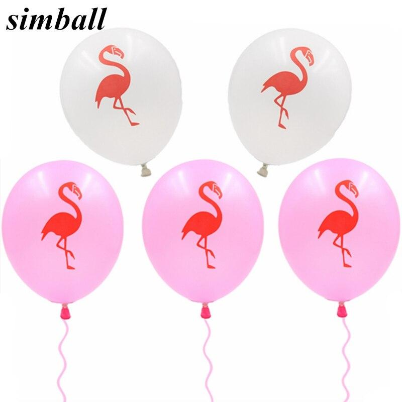 100 PCS Flamingos Decoracion Balões De Látex Impressos Baby Shower Casamento DIY Decorações Do Partido Fontes do Partido Galinha de Despedida