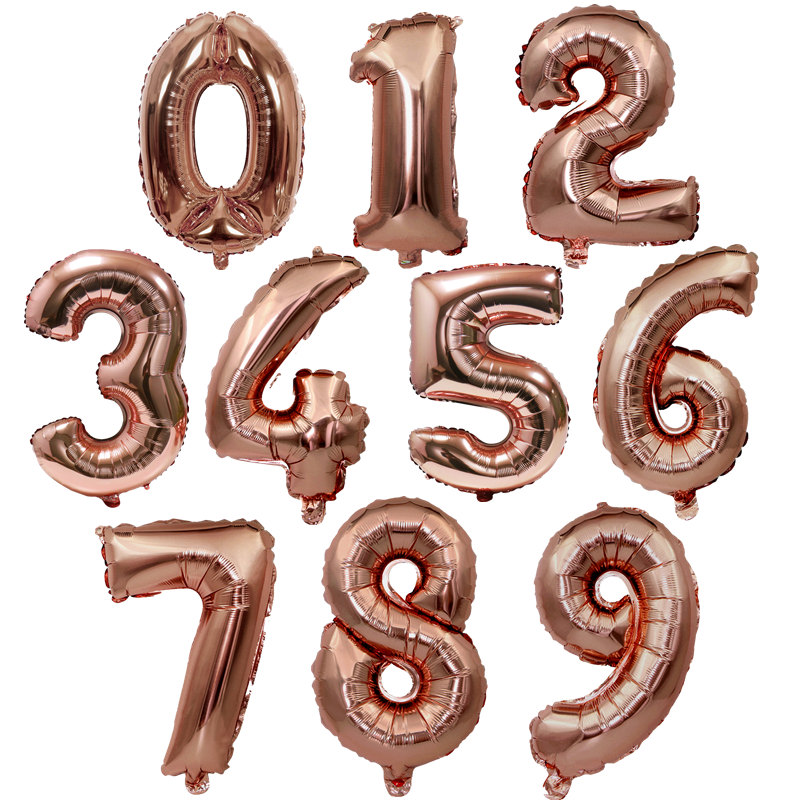 Festive & Party Supplies 32/40 Rose Gold Number Foil Balloons Large Digit Helium Balloon Float Air Inflatable Balls For Birthday Party Wedding Decoration Ballons & Accessories