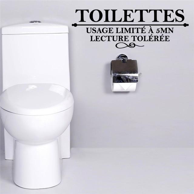 Französisch Toilettes Zitate Wandaufkleber Für Badezimmer Waschraum Nutzung  Limite Eine 5 Mn Wc Wandkunst Dekor Diy